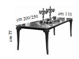 Стол раскл. с 1 вставкой (200-250 см) - Итальянская гостиная Raffaello