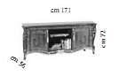 Тумба ТВ низкая L.171 h.72 d.56 - Итальянская гостиная Tiziano