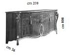 Комод 4 дверный L.209 h.101 d.56 - Итальянская гостиная Tiziano