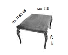 Стол квадратный раскл. L.118-158 h.79 d.118 - Итальянская гостиная Tiziano