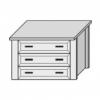 Кассетница для шкафа большая Ш. 90 Г. 50,5 В. 48 - Итальянская спальня San Remo Bianco