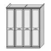 Шкаф 4-х дверный с декором Ш. 194 Г. 68 В. 236 - Итальянская спальня San Remo Bianco