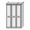 Шкаф 3-х дверный с декором Ш. 148 Г. 68 В. 236 - Итальянская спальня San Remo Bianco