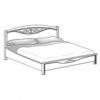 Кровать с резной вставкой без изножья сп.м. 160х200 Ш. 170 Г. 215 В. 127 - Итальянская спальня San Remo Bianco