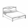 Кровать без изножья сп.м. 120х200 Ш. 130 Г. 215 В. 127 - Итальянская спальня San Remo Bianco