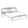 Кровать с резной вставкой с изножьем сп.м. 160х200 Ш. 170 Г. 215 В. 127 - Итальянская спальня San Remo Bianco