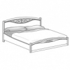 Кровать с резной вставкой с изножьем сп.м. 180х200 Ш. 190 Г. 215 В. 127 - Итальянская спальня San Remo Bianco