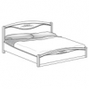 Кровать с изножьем сп.м. 160х200 Ш. 170 Г. 215 В. 127 - Итальянская спальня San Remo Bianco