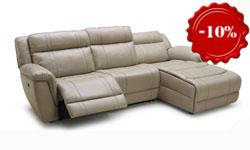Угловой диван с реклайнерами Alabama (Италия)