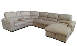 Угловой диван Manhattan с реклайнером и кроватью (Италия)