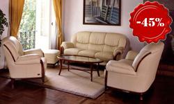 Кожаный диван + 2 кресла Victoria (Италия)