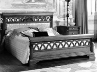 Кровать 160 (сп.место 160х200) - Итальянская спальня Puccini bianco