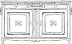 Комод 2/А - Итальянская гостиная Palazzo Ducale (отделка P13E)