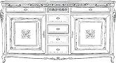 Комод 2/А с ящиками - Итальянская гостиная Palazzo Ducale (отделка P13E)