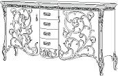 Комод с деревянной столешницей  L. 227  x  59,5  H. 117,5 - Итальянская гостиная Vittoria
