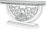 Консоль  L. 168,5  x  47  H. 84 - Итальянская гостиная Vittoria