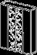 Шкаф 4-х дверный,  2 зеркала  - Итальянская спальня Prisma (черный лак)