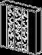 Шкаф 5-ти дверный,  3 зеркала  - Итальянская спальня Prisma (черный лак)