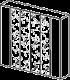 Шкаф 6-ти дверный, 4 зеркала  - Итальянская спальня Prisma (черный лак)