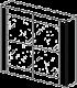Шкаф купе(с 2 зеркальными дверками)  - Итальянская спальня Prisma (черный лак)