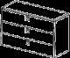 Комод  - Итальянская спальня Prisma (черный лак)