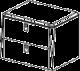 Тумбочка с 2 ящиками  - Итальянская спальня Prisma (черный лак)