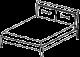 Кровать с подсветкой (сп. место 160 х 195) - Итальянская спальня Prisma (черный лак)
