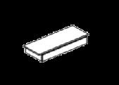 Ящик с полкой для двухдверной витрины 96 x 34 x 14 - Итальянская гостиная Perla White Larch