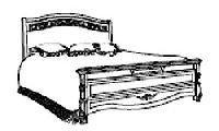 Кровать (спальное место 180х200) для итальянской спальни Diamante. Размер: L.  201  x 224  H. 129