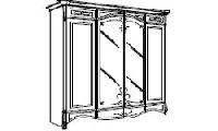 Шкаф четырехдверный для итальянской спальни Diamante. Размер: L. 220 x 71,5  H. 220