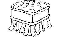 Пуф квадратный для итальянской спальни Diamante. Размер: L. 50 x 50  H. 46