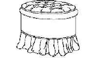 Пуф круглый для итальянской спальни Diamante. Размер: D. 50  H. 46