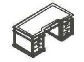 Письменный стол с кожаной накладкой (Art. 01122) - Испанский кабинет Art Moble