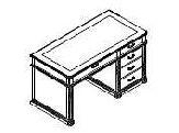 Письменный стол с кожаной накладкой (Art. 01123) - Испанский кабинет Art Moble