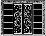 Стенка с раздвижными дверками - Итальянский кабинет Phedra