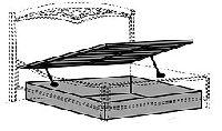 Подъемный механизм 180х200, артикул 000RET.860 000LET.06NO, размер 180x200- Спальня Treviso фабрики Camelgroup