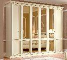 Шкаф 6 ств.  без зеркал, артикул 143AR6.01FR, размер 290х65х242- Спальня Treviso avorio (frassino) фабрики Camelgroup