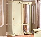 Шкаф-купе 2 ств.  MINI без зеркал, артикул 143ARS.01FR, размер 170х70х240- Спальня Treviso avorio (frassino) фабрики Camelgroup