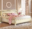 Кровать 180х200 без изн., артикул 143LET.03FR, размер 195х214х120- Спальня Treviso avorio (frassino) фабрики Camelgroup