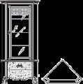 Витрина угловая  L.  76 x 76  H. 220 - Итальянская гостиная Symfonia (орех)