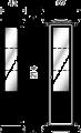 Витрина 1/А с зеркалом и подсветкой (правая) - Итальянская гостиная Palazzo Ducale ciliegio
