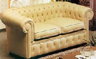 Диван Chester 2-х местный в натуральной коже (кат. B), размер L. 170 x 85 H. 70 - Итальянская мягкая мебель