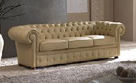Диван Chester 3-х местный в натуральной коже (кат. B), размер L. 220 x 85 H. 70 - Итальянская мягкая мебель