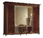 Шкаф 5 дв. 3 зеркала - Итальянская спальня Giotto