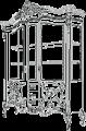 Витрина 2А L. 181,5  x  65  H. 238 - Итальянская гостиная Vittoria