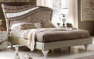 Кровать 180/200х200 с мягкой спинкой - Итальянская спальня Miro