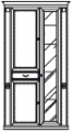 Витрина 2А малая  L. 103 x 45  H. 212 - Итальянская гостиная Nabuco (шпон вишня)