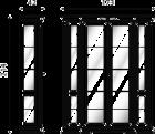 Витрина 4-х дверная, большая (задняя стенка зеркало) - Итальянская гостиная Palazzo Ducale laccato