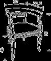 Кресло в ткани, размер L. 57  x  52,5   H. 76 - Итальянская мягкая мебель Palazzo Ducale ciliegio