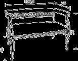 Диван в ткани, размер L. 106,5  x  54   H. 76 - Итальянская мягкая мебель Palazzo Ducale ciliegio